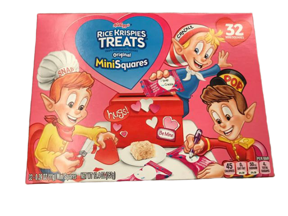 Kellogg's Kellogg's Valentine's Day Rice Krispie Treats Mini Squares, 32 Count