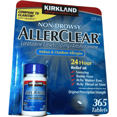 Kirkland Signature Kirkland Signature AllerClear, Non-Drowsy, Allergy relief, 365 Tablets