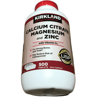 Kirkland Signature Kirkland Signature Calcium Citrate Magnesium and Zinc, 500 Tablets