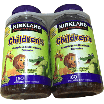 Kirkland Signature Children's Complete Multivitamin Gummies, 320 Count - ShelHealth.Com