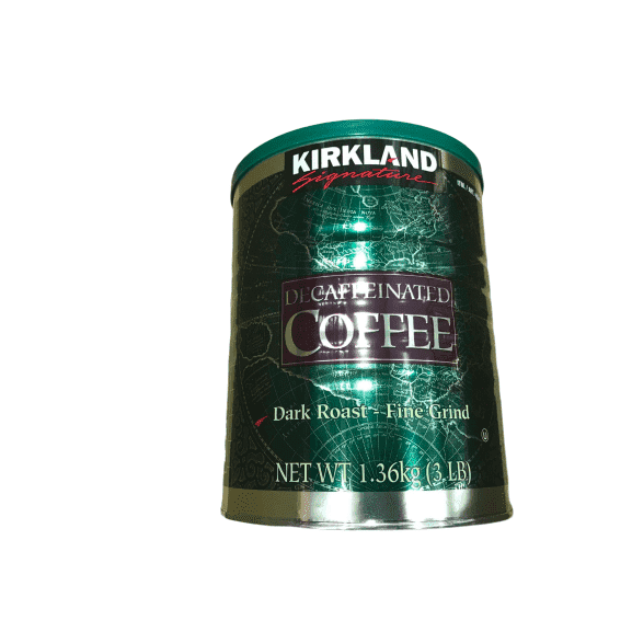 Kirkland Signature Dark Roast Fine Grind Decaf Arabica Coffee, 48 Ounce