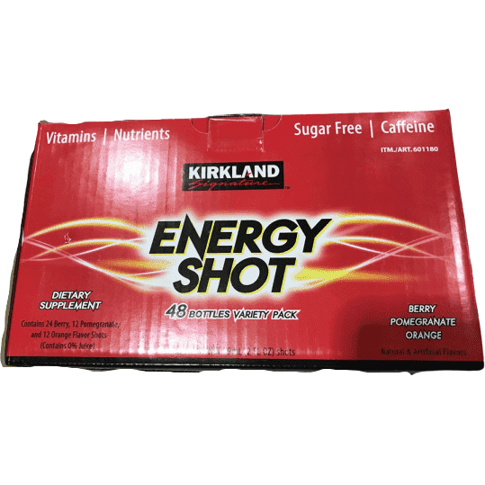 Kirkland Signature Energy Shot, 48 Bottles, 2 Ounces Each - ShelHealth.Com