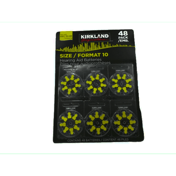 Kirkland Signature Hearing Aid Batteries, Size 10 (48-Pack) - ShelHealth.Com