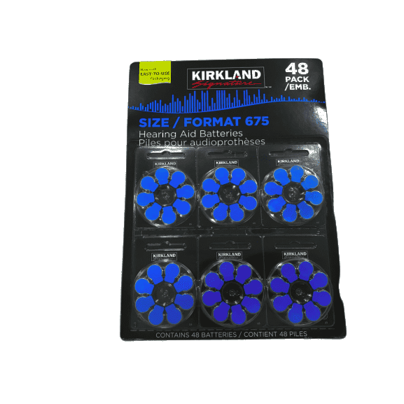 Kirkland Signature Hearing Aid Batteries, Size 675 (48-Pack) - ShelHealth.Com