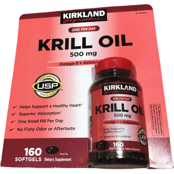 Kirkland Signature Kirkland Signature Krill Oil 500 mg., 160 Softgels