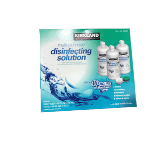 Kirkland Signature Kirkland Signature Multi-Purpose Sterile Eye Solution for Any Soft Contact Lens, 3 Count ( 16 oz bottles )
