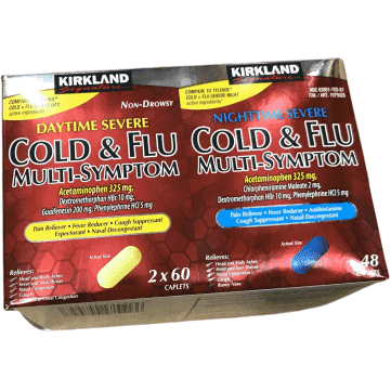 Kirkland Signature Kirkland Signature Multi-Symptom Cold Day 120ct & Night 48ct Tabs
