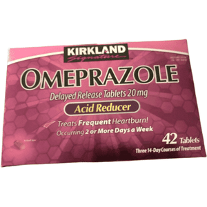Kirkland Signature Omeprazole 20mg Acid Reducer, 42 Tablets - ShelHealth.Com