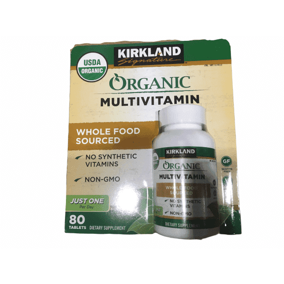 Kirkland Signature Organic Multivitamin - 80 Coated Tablets - ShelHealth.Com