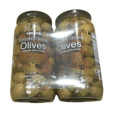 Kirkland Signature Kirkland Signature Pimento Stuffed Spanish Queen Olives 21 oz. Jars x 2 Jars