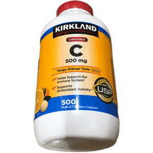 Kirkland Signature Kirkland Signature Vitamin C 500 Mg Tangy Orange, 500 Tablets