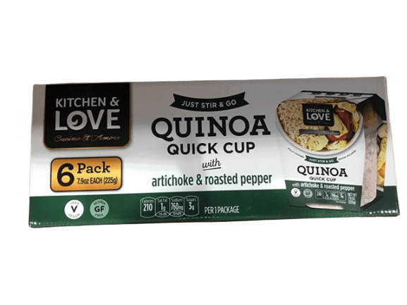 Kitchen & Love Kitchen & Love Artichoke and Roasted Pepper Quinoa Quick Meal, 6 Pack