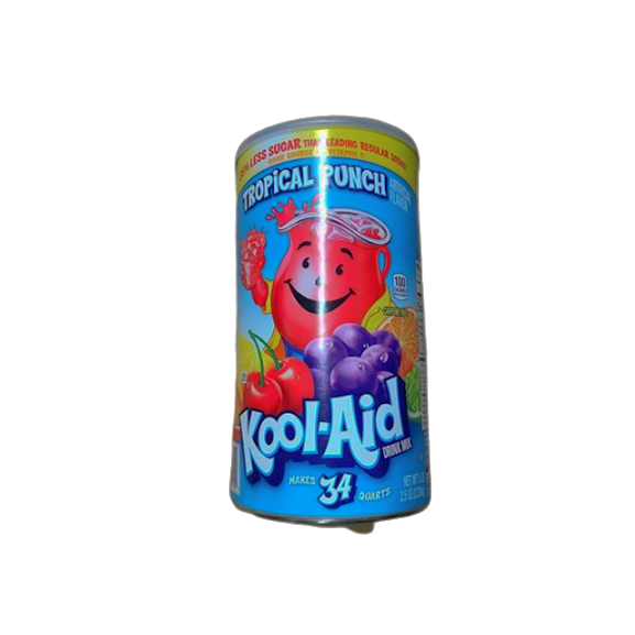 Kool-Aid Kool Aid Tropical Punch Powdered Drink Mix (2.5oz Canister), Makes 34 Quarts