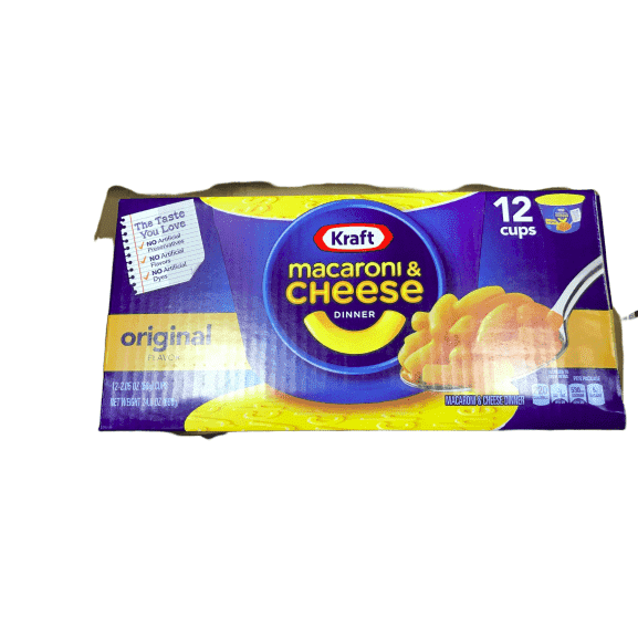 Kraft Kraft Original Macaroni & Cheese Dinner (2.05 oz Cups, 12 Count)