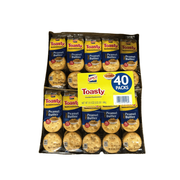 Lance Lance Fresh Toasty Crackers with rich peanut butter sandwich crackers (40 packs)