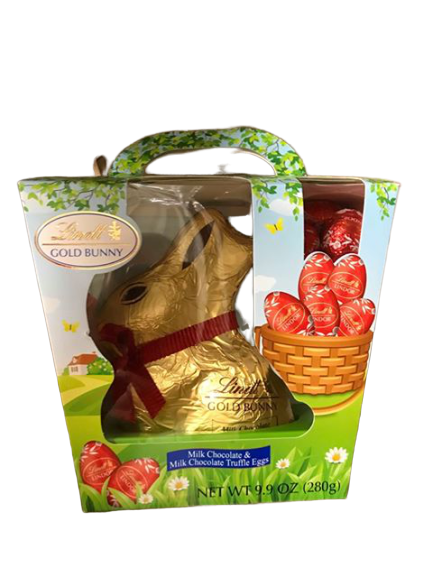 Lindt Lindt Gold Bunny, Milk Chocolate & Milk Chocolate Truffle Eggs, 9.9 Ounce