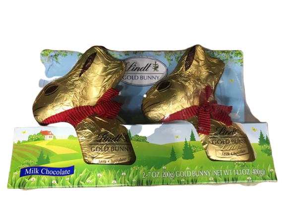 Lindt Lindt Gold Easter Bunny, Milk Chocolate, 7 Ounce (Pack of 2)