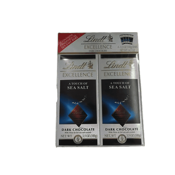 Lindt Lindt Lindor Excellence Bar (Dark Chocolate A Touch of Sea Salt) , 3.5 Ounce Package - Pack of 4