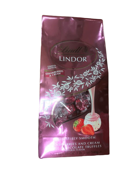 Lindt Lindt Lindor Milk Chocolate Truffles Strawberries & Cream, Valentines Edition, 19 oz