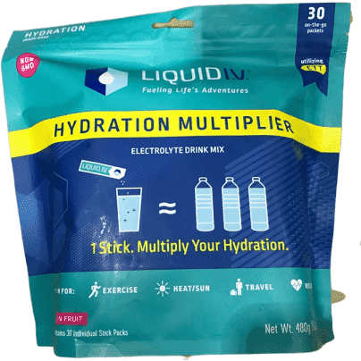 Liquid I.V. Hydration Multiplier, Electrolyte Powder, Easy Open Packets, Supplement Drink Mix (Passion Fruit, 30 Count) - ShelHealth.Com