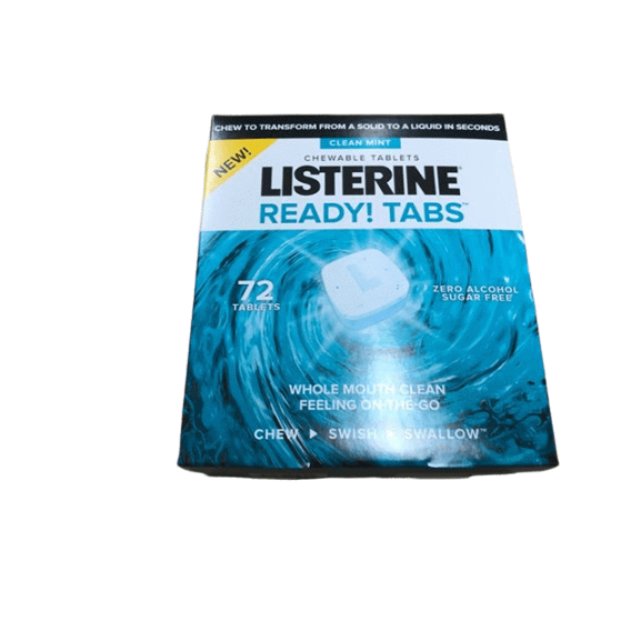 Listerine Listerine Ready! Tabs Chewable Tablets with Clean Mint Flavor, 72 ct.