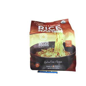 Lotus Foods Millet and Brown Rice Ramen with Miso Soup, Low Sodium, 2.5 oz, 12 Count - ShelHealth.Com