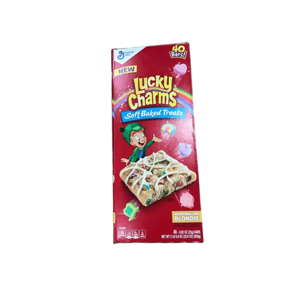 General Mills Lucky Charms New Marshmallow Blondie Soft Baked Treats, 40 Bars