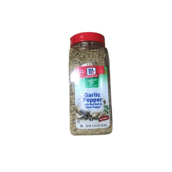 McCormick Culinary Selects California Style Garlic Pepper Seasoning - 17 oz. - ShelHealth.Com