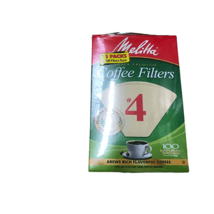 Melitta Melitta Cone Coffee Filters, Natural Brown #4, 300 Count