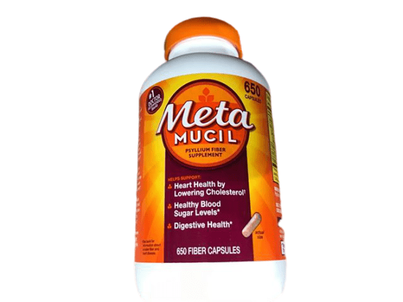 Metamucil Metamucil Fiber, 3-in-1 Psyllium Husk Capsules Supplement, 650 Count