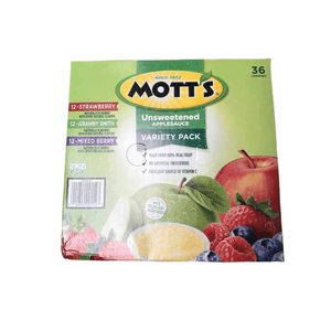 Mott's Unsweetened Applesauce Variety Pack, 3.9 Ounce Cup, 36 Count - ShelHealth.Com