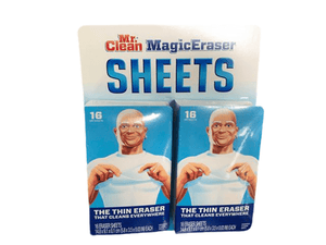 Mr. Clean Mr. Clean Magic Eraser Sheets, Cleaning Wipes for Hard to Reach Spaces, 16 Count (Pack of 2)