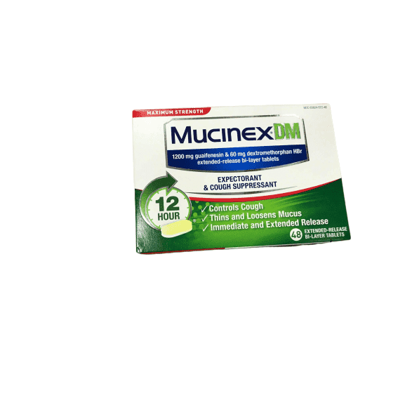 Mucinex Mucinex DM Maximum Strength 12 Hr Relief Tablets, 48ct