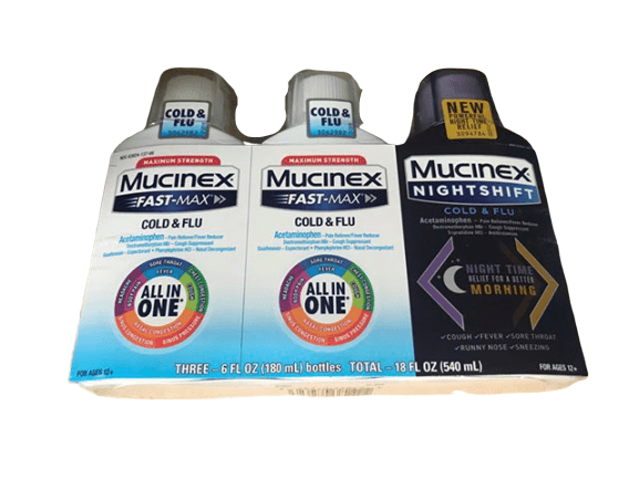 Mucinex Mucinex Fast-Max Cold & Flu with Mucinex Night Shift Liquid Cold & Flu Variety Pack