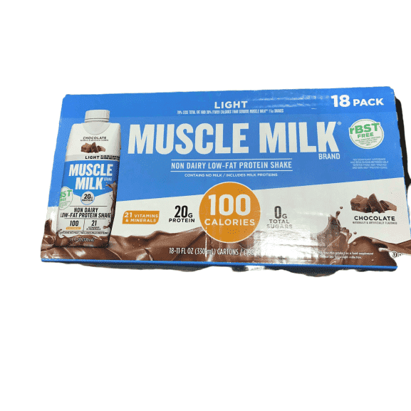 Muscle Milk Light Chocolate Shakes 11 oz., 18-pack - ShelHealth.Com