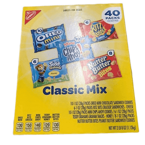 Nabisco Nabisco Classic Mix - Variety Pack with Cookies & Crackers, 40 Count Box, 40 oz