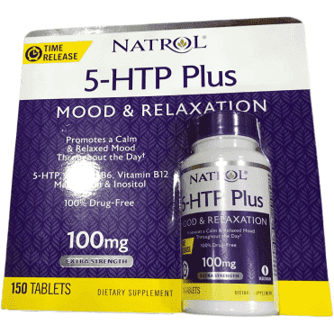 Natrol Natrol 5-HTP Plus Mood and Relaxation Enhancer, 100mg, 150 Time Release Tablets