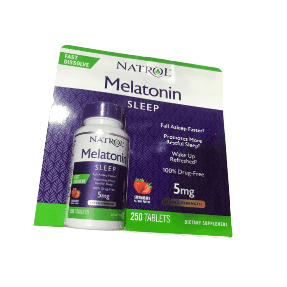 Natrol Natrol Melatonin Fast Dissolve Tablets, Strawberry Flavor, 5mg, 250 Count