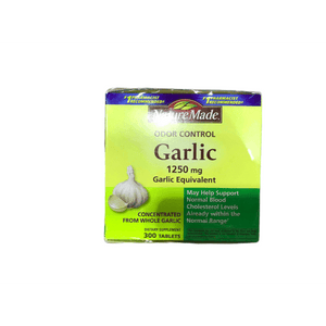 Nature Made Nature Made Odor Control Garlic, 1250mg, 300 Tabs
