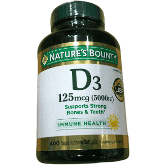 Nature's Bounty Nature's Bounty Immune Health Vitamin D3 5000 IU, 400 Softgels