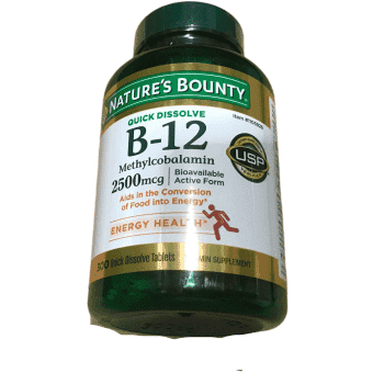 Nature's Bounty Nature's Bounty Vitamin B-12 2500 mcg, 300 Quick Dissolve Tablets