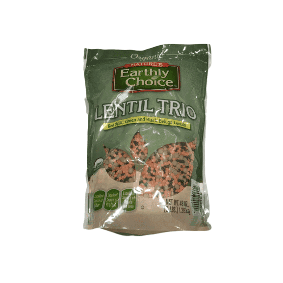 Nature's Earthly Nature's Earthly Choice Organic Lentil Trio - Red Split, Green and Black Beluga (3 lbs)