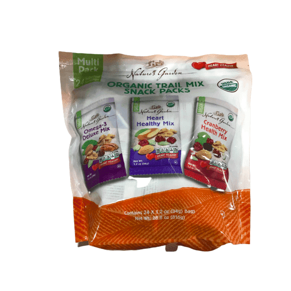 Nature's Garden Nature's Garden Organic Trail Mix Snack Packs, Multi Pack 1.2 oz - Pack of 24