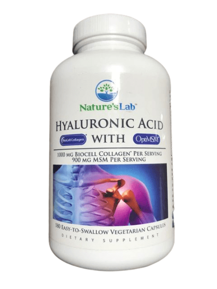 Nature's Lab Nature's Lab Hyaluronic Acid with BioCell Collagen, 180 Vegetarian Capsules
