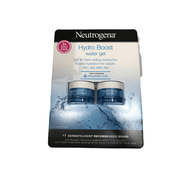 Neutrogena Neutrogena Hydro Boost Hyaluronic Acid Hydrating Water Face Gel Moisturizer for Dry Skin, 1.7 fl. oz (2 pack)