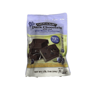Nib Mor NibMor Organic Dark Chocolate Pieces with 72% Cacao - Wild Maine Blueberries, 18 Ounce