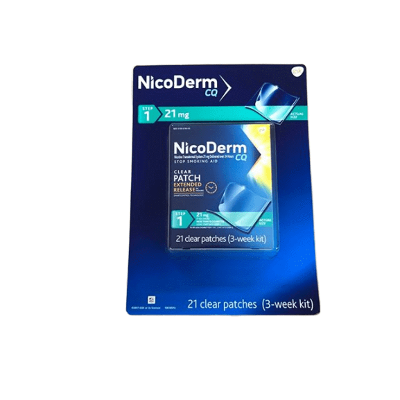 Nicoderm NicoDerm CQ 21mg Step 1 Clear Nicotine Patches, 21 ct.