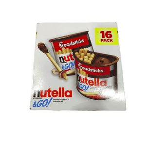 Nutella & Go Hazelnut Spread with Breadsticks 28.80 oz --16 Pack - 1.8 oz Each - ShelHealth.Com