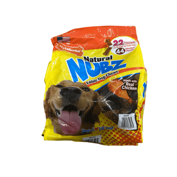 Nylabone Nylabone Nubz Natural Dog Chew Treats, 22 Count