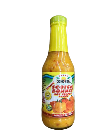 Ocho Rios Ocho Rios Scotch Bonnet Hot Pepper Sauce, 14 oz Jar